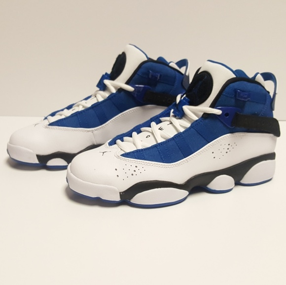 separation shoes 5c754 4f20e NIKE JORDAN 6 RINGS TEAM ROYAL WHITE GS SNEAKERS. M 5b576dc2baebf6271d6ddfa2